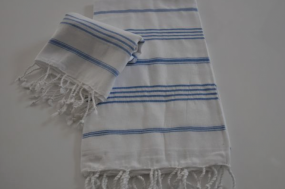 Hamamset weiß-blau